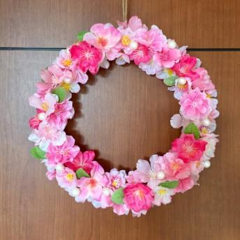 春色桜リース