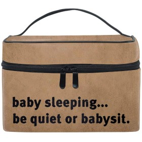 化粧ポーチ メイク収納 中身が見やすい眠っている赤ちゃん 持ち運び用 小物入れ