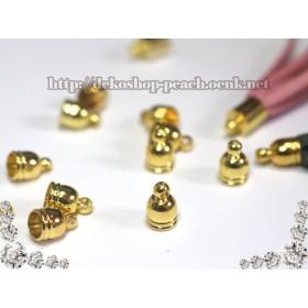 【40個入り】キャップパーツ(小)円の直径5mmm/PKT-03/ゴールド