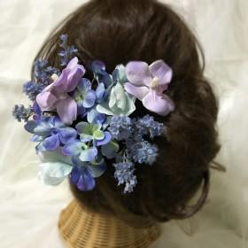 ウェディングヘッドドレス something blue2