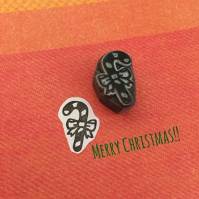 【クリスマス*オーナメント 】杖 はんこ