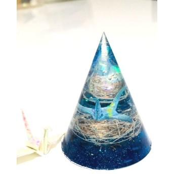 オルゴナイト 祈り(円錐・ブルー)