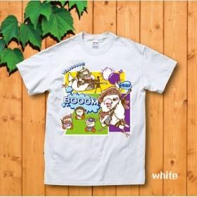 BOOOM!白Tシャツ(S、L、XL)