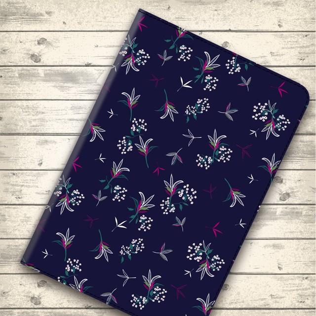 大人可愛い可憐な花 flow590 androidケース iPadケース タブレットケース iPadmini5
