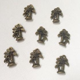 チャーム ヤシの木 パーム 8個セット