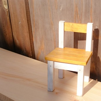 【雑貨】ミニチュア 木製椅子
