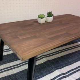 【一枚板/ミニ】折りたたみ式 ローテーブル〈アンティーク風〉