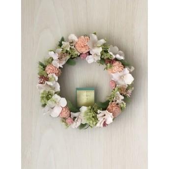 *母の日* サクラピンクの花いっぱいリース