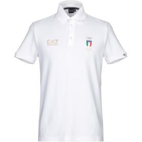 《セール開催中》EA7 メンズ ポロシャツ ホワイト S コットン 95% / ポリウレタン 5%