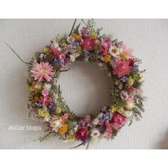 八ヶ岳〜春待ち色小花のWreath03