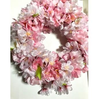 再販!春満開桜のリース