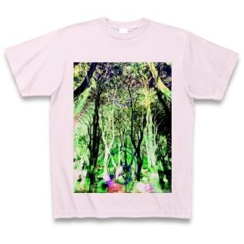 有効的異常症候群幻林◆アート◆文字◆ロゴ◆ヘビーウェイト◆半袖◆Tシャツ◆ピーチ◆各サイズ選択可