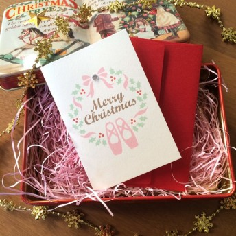 『Ballet』クリスマスカード ミニグリーティング バレエ 2セット