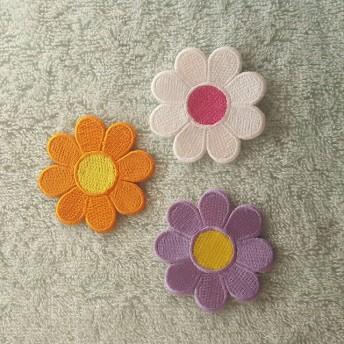 かわいいお花のワッペン 三枚セット A