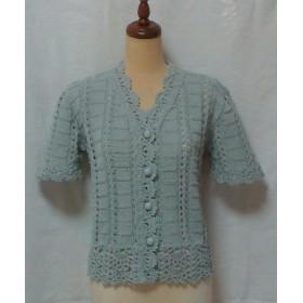 半袖サマーセーター(明るいグレー)