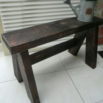 花台 イス ベンチチェア 子供椅子 プランター台 腰掛 茶色