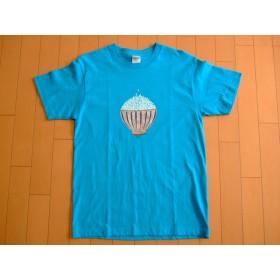SALE!手描きごはんTシャツ メンズM (ターコイズ)