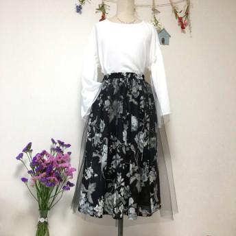 チュールチュール の、ギャザースカート
