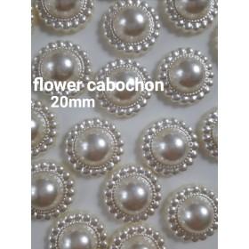 【再販】flower cabochon 20mm 10pieces