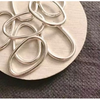 8pcs Handmade 資材 B-155 metal rough rings