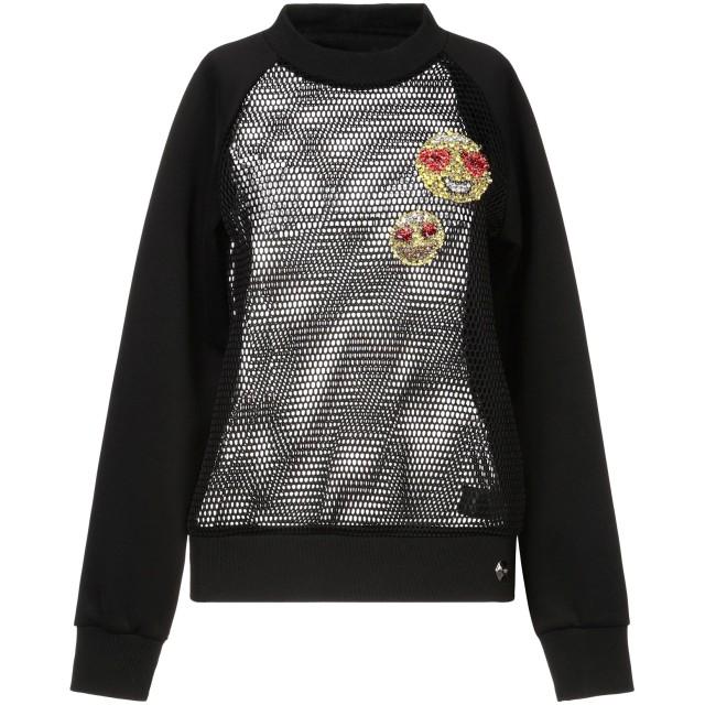 《セール開催中》PHILIPP PLEIN レディース スウェットシャツ ブラック S ポリエステル 100%