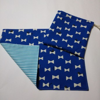 ハンドメイド ランチョンマットと巾着袋