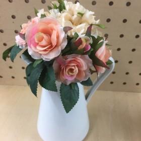 薔薇と山茶花の花束