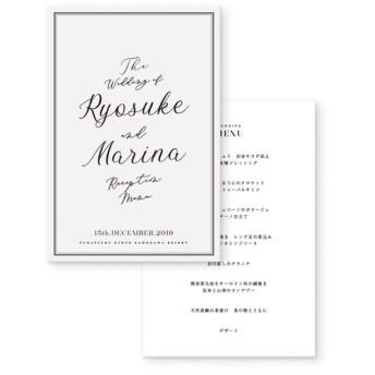 RISTRANTE メニュー表 結婚式・ウェディングペーパーアイテム