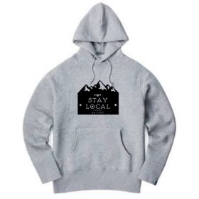 STAY LOCAL mountain logo pullover厚手