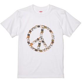 デザインTシャツ 「ネコ&ピース」