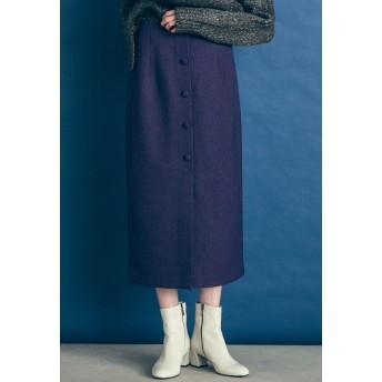 Droite lautreamont ヘリンボーンタイトスカート その他 スカート,パープル
