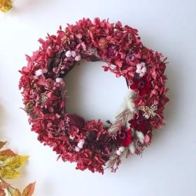 Bordeaux dryflower Autumnwreath