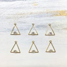 三角メタルパーツ*6個set