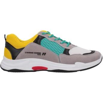 《セール開催中》DANIELE ALESSANDRINI HOMME メンズ スニーカー&テニスシューズ(ローカット) グレー 42 紡績繊維 / 革