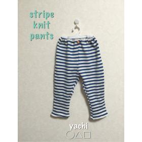 履き心地楽ちん☆stripe knit pants