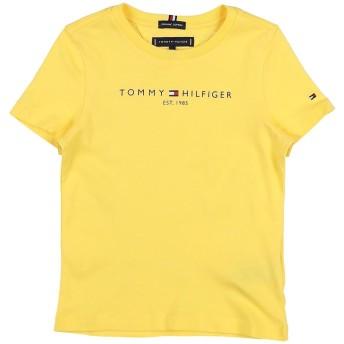 《セール開催中》TOMMY HILFIGER ボーイズ 3-8 歳 T シャツ イエロー 5 コットン 100%