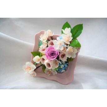 サクラとバラの花束