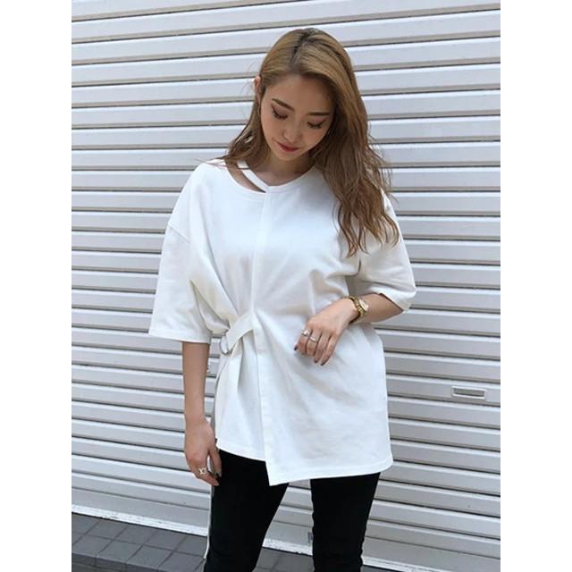 Tシャツ - ENVYM ネックポイントベルトT-SH