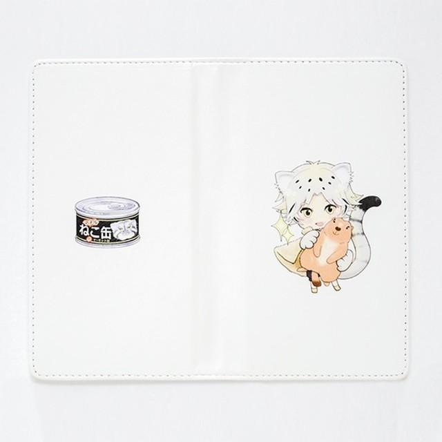【手帳型】猫のスマホケース 「マヌルネコ王子(擬人化キャラ)」MNN04B