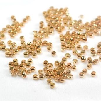 かしめ玉 【 ゴールド 】 つぶし玉 2mm 約200個 小 アクセサリー パーツ 金具