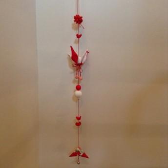 鶴の正月飾り 鶴のつるし飾り 新春飾り
