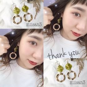 GOLD ring ×ミント