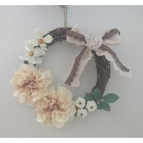 【再販なし】flower wreath white
