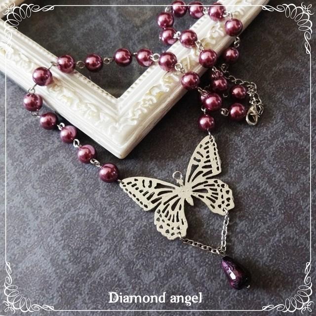 透かし蝶のネックレス(SV)