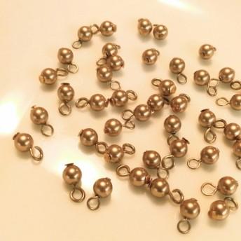 金具付き ゴールド 丸ビーズ 3mm 玉 40個