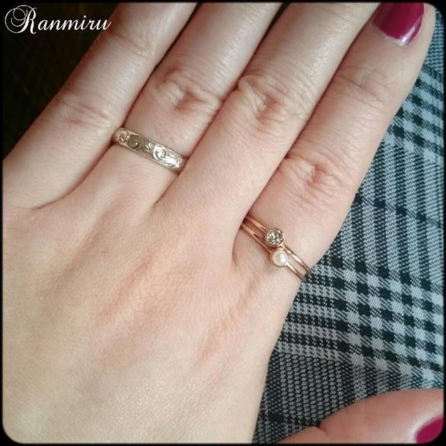 。パール&スワロ2連ring 。