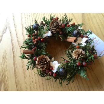 【再販18】ヒバと木の実のクリスマスリース