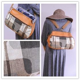 ☆再販☆【nanqueen's handmade】☆がま口リュック&ショルダー2wayバッグ