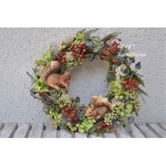 【母の日にも】子リスの森wreath