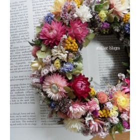 atelier blugra八ヶ岳〜春いろカラフル小花のWreath01